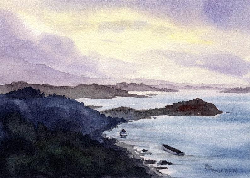 Bonnie Boat along the coast in Scotland image 1