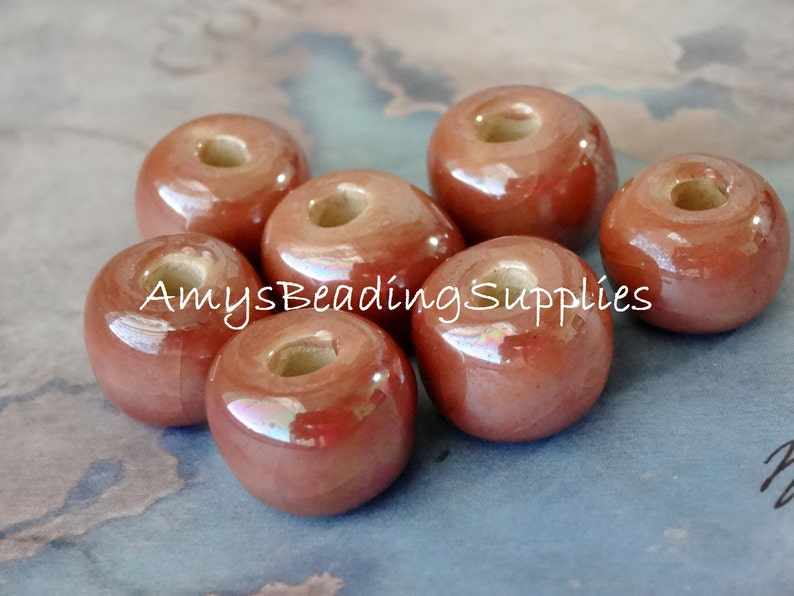 Select bead choice KAZURI RONDELLE and SHALE Mother of Pearl design Handmade African Ceramic Beads
