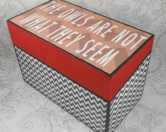 Custom Twin Peaks inspired Black Lodge Recipe Box