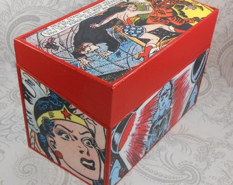 Custom Wonder Woman inspired Recipe Box