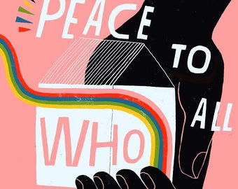 Peace To All Who Enter Here -  Lisa Congdon Archival Art Print
