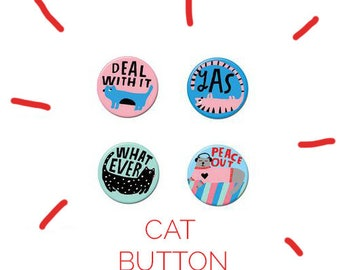Cat Button Pack #1