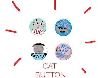 Cat Button Pack #2