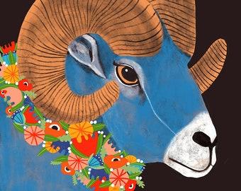 Aries Zodiac Symbol -  Lisa Congdon Archival Art Print