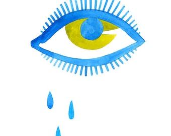 Tears for Fears Art Print - Lisa Congdon