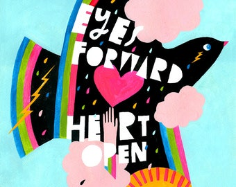 Print: Lisa Congdon Eyes Forward Art Print
