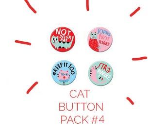 Cat Button Pack #4