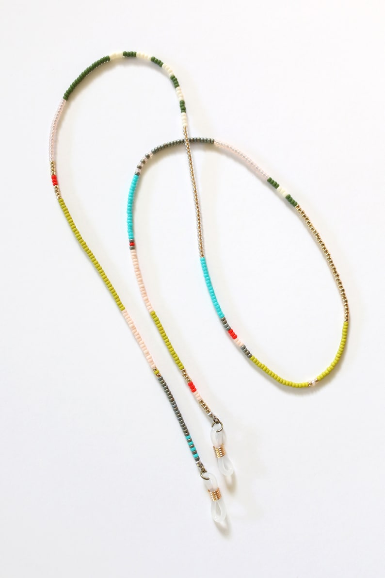 Beaded Eyewear Chain - Colorblock Beaded Chain - Color Story Mix No. 4 - Sunglasses Chain - Eyeglasses Chain - Japanese Glass Beads - Ashdel