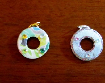 Washer pendants etsy beautiful small decorated washer pendants aloadofball Images