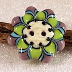 Lampwork  Art Button by Jeanniesbeads 370