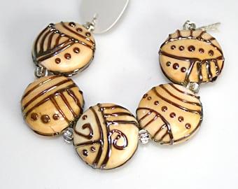 Lampwork  Art Beads by Jeanniesbeads #4534