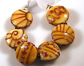 Lampwork  Art Beads by Jeanniesbeads #3787