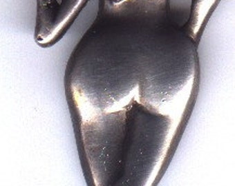 """Sterling Silver Handmade Lost Wax Casting """"big ass pendant/pin"""""""