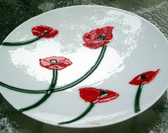 Red Poppies, White Bowl
