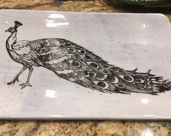 Regal Peacock Blue Speckled Plate