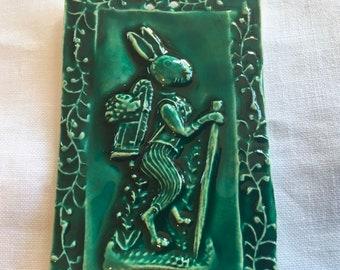 Dark Green Storybook Rabbit