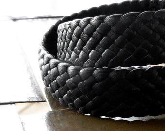 Amari Wrap Leather Bracelet, Braided Leather Bracelet, Men's Women's Double Wrap Bracelet, Woven Wrist Band, Adjustable, Boho Gypsy Cuff