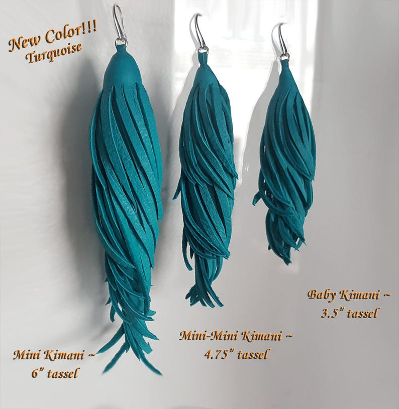 Kimani Leather Tassel Earrings Fetish Costume Jewelry Gypsy Hippie Boho Leather Fringe Earrings Feather Earrings Long Leather Earrings