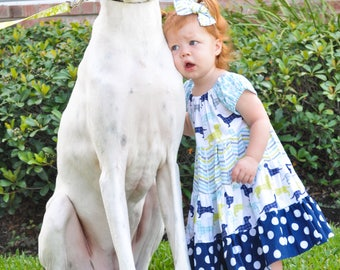 Baby Animal Dress - Baby Dog Dress - Baby Dress - Toddler Animal Dress - Toddler Dress - Toddler Party Dress - Baby Party Dress - Dog Dress