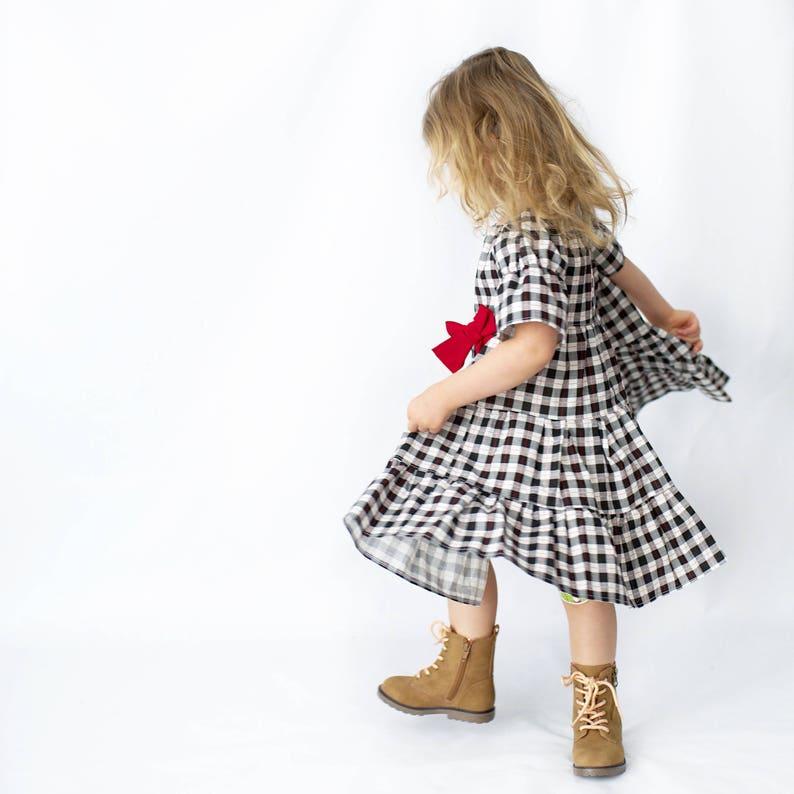 Buffalo Plaid Dress Girls Christmas Outfit- Baby Christmas Dress Girls Christmas Dress Girls Holiday Dress Girls Holiday Outfit