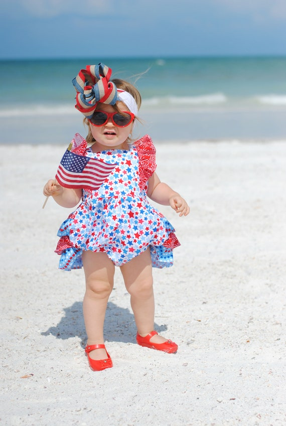 f79e49acd102 4th of July Romper 4th of July Baby Romper Baby Romper