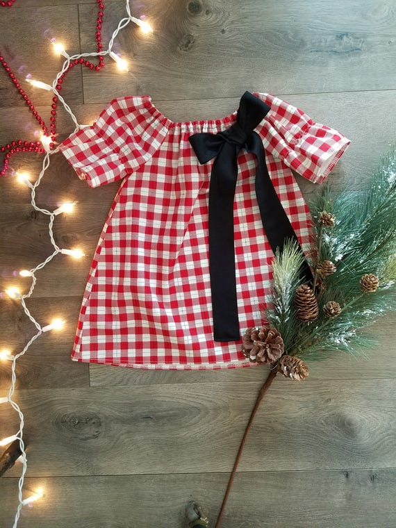 Christmas Plaid Baby Dresses Page Two