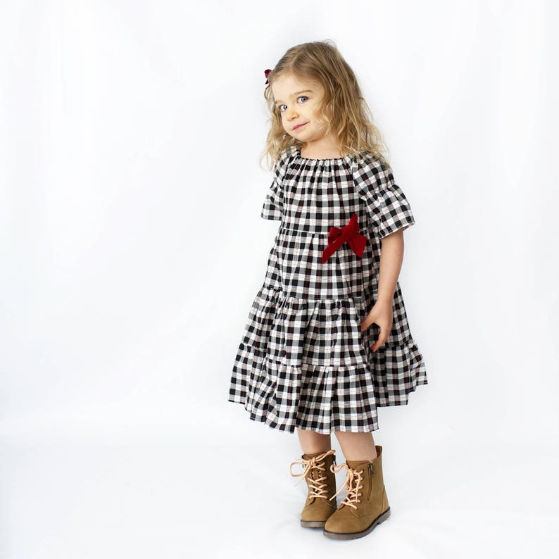 4b77e3c85 Girls Holiday Dress Girls Christmas Dress Buffalo Plaid