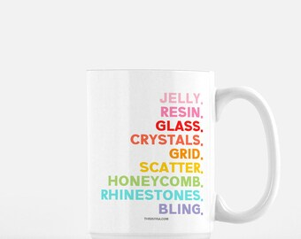 For the Love of Blinging Coffee Mug