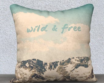Wild and Free Square Pillow