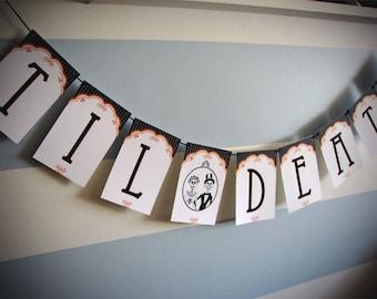 Til Death Dia de Los Muertos Wedding Paper Party Banner