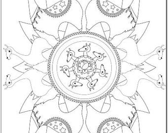 Voodoodles - Llama collection coloring pages