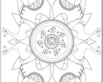 Voodoodles - Mandallama coloring page