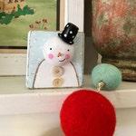 original little snowman block