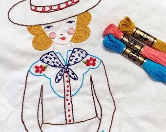 JESSIE doll embroidery pattern