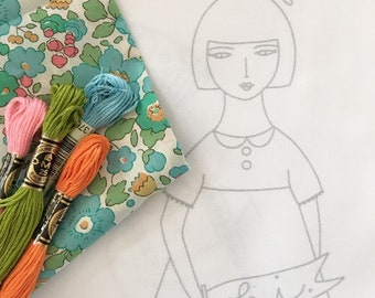 JANE doll embroidery pattern