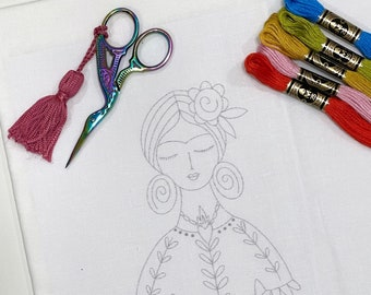 FRIDA doll embroidery pattern