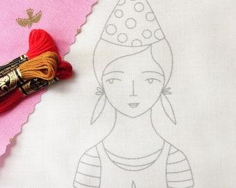 LULU doll embroidery pattern