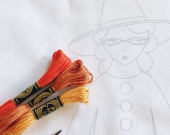 HALLOWEEN doll embroidery pattern