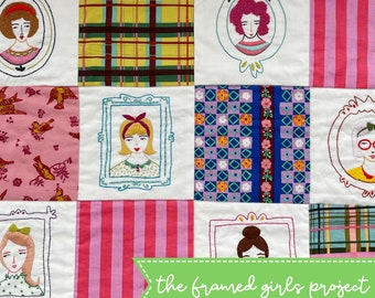 the frame girls project set of 6 embroidery patterns