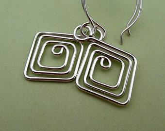 Diamond Doodles - earrings in sterling silver