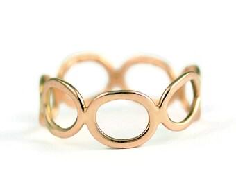 Sterling Silver 14 karat gold Stacking Ring - Wedding Anniversary - Life Milestone Gift - Graduation - New Job - Divorce - Stepping Stones