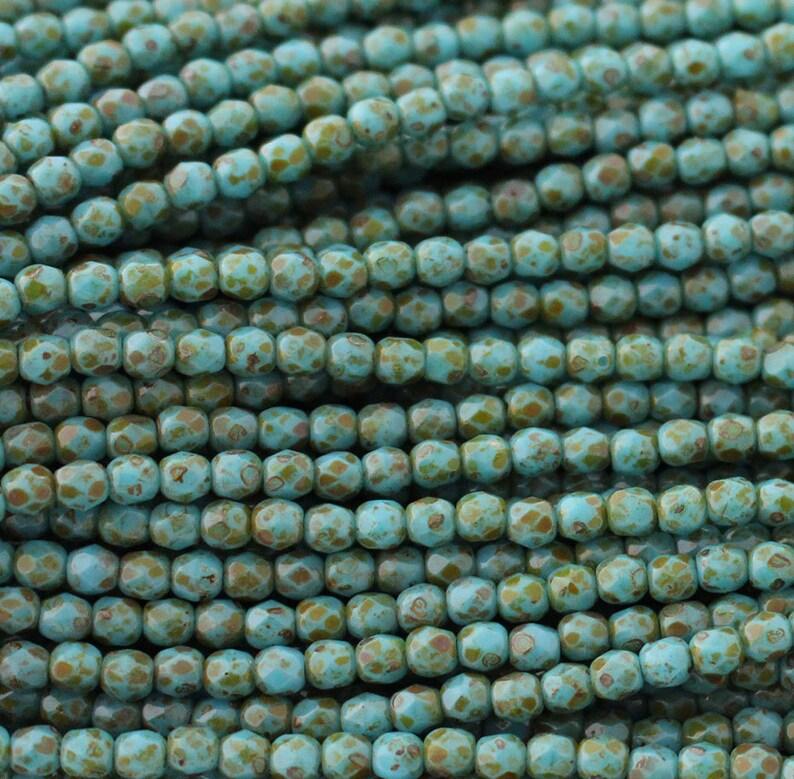 Dark Teal 25 6 mm Czech Glass Firepolish Beads