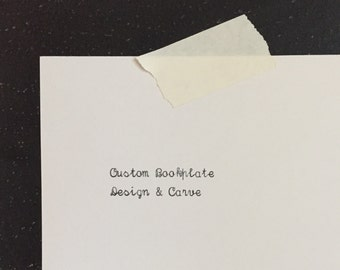 Custom Bookplate Design & Carve (Printing Seperate)
