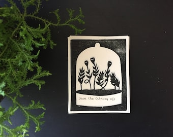 """Relief Printed Moss Bookplate - """"From the library of:"""""""
