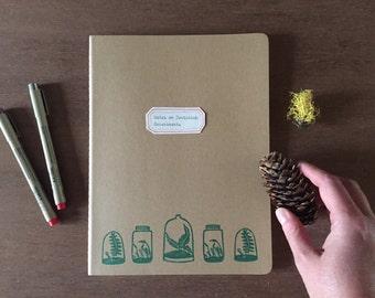 Customizable Hand-stamped Terrarium Journal