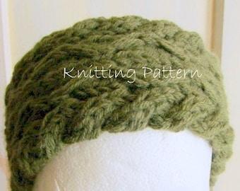 Diamond Cable Headband PDF Knitting Pattern
