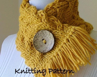 PDF Knitting Pattern - Flying Geese Neckwarmer