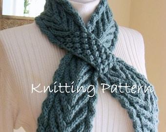 Ascot Cable Neckwarmer PDF Knitting Pattern