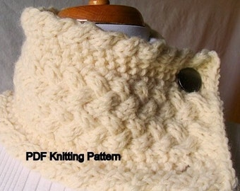 Double Braided Cable Scarf or Scarflette Knitting Pattern
