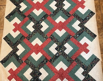 Lover's Knot Cotton Quilt Top